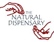 2 hands cupping the Natural Dispensary logo